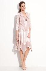 Komarov Beaded Pleated Charmeuse Dress & Jacket - nordstrom.com