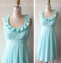 Light blue bridesmaid dress - www.etsy.com/shop/AmandaArcher
