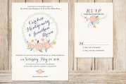 Printable wedding invitation - www.etsy.com/shop/plpapers