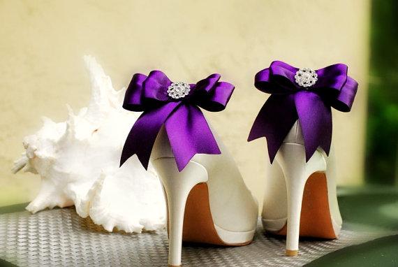 Purple shoe clips - www.etsy.com/shop/sofisticata