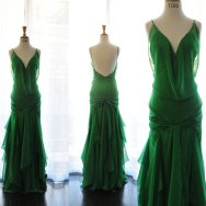 Green wedding dress - www.etsy.com/shop/TingBridal