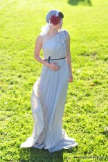 Pale grey wedding dress - www.etsy.com/shop/TingBridal