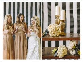 Black, white and gold wedding inspiration {via 100layercake.com}