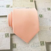 Men's peach necktie - www.etsy.com/shop/TieObsessed
