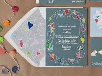 Geometric wedding invitation - www.etsy.com/shop/WeddingInvitationsVP