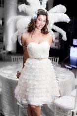 Organza ruffle reception dress - www.etsy.com/shop/TheLittleWhiteDress