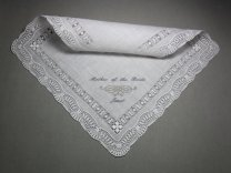 Personalised 'mother of the bride' handkerchief - www.etsy.com/shop/sophieli