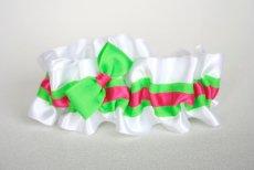 White and neon garter - www.etsy.com/shop/thegartergirl