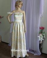 Dahlia-print wedding dress - www.etsy.com/shop/EllanaCouture