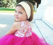 Fuchsia and gold flower girl dress - www.etsy.com/shop/CarissimaKids