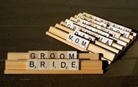 Scrabble placecards - www.etsy.com/shop/LettersByLilly