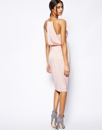 Asos drape-back midi dress, from asos.com