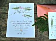 Blue floral wedding invitation - www.etsy.com/shop/sweetinvitationco
