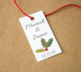 Christmas wedding favour tags - www.etsy.com/shop/TwistedTreeOccasions