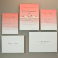 Coral ombre wedding invitation - www.etsy.com/shop/JPstationery