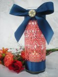 Navy and coral centrepiece - www.etsy.com/shop/DellaCartaDecor