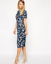 ASOS Wiggle Dress in Butterfly Print, from asos.com