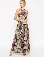 ASOS Floral Print Cross Front Maxi Dress, from asos.com