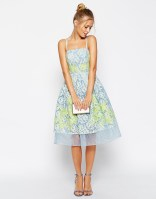 ASOS SALON Premium Placed Lace and Applique Prom Dress With Organza Hem, from asos.com