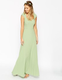 ASOS WEDDING Maxi Dress With Pleated Skirt And Sweetheart Detail, from asos.com