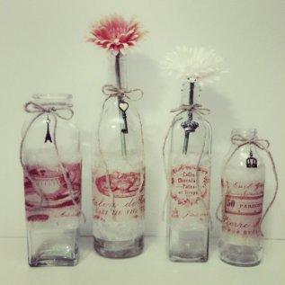 Marsala centrepiece vases - www.etsy.com/shop/beachbabyblues