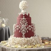 Marsala wedding cake {via wilton.com}