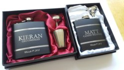 Personalised groomsmen hip flasks - www.etsy.com/shop/Laserlinx