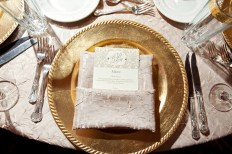 Taupe and gold table setting inspiration {via significanteventsoftexas.com}