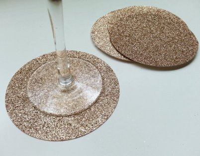 Taupe glittery coasters - www.etsy.com/shop/StellaArborBoutique