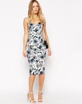 ASOS Sketchy Floral Hitchcock Pencil Dress - asos.com