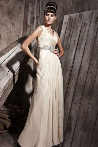 Chiffon wedding dress US$469 - www.etsy.com/shop/ElliotClaireDresses