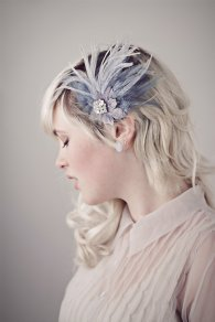 Dusty blue fascinator - www.etsy.com/shop/BaroqueAndRoll