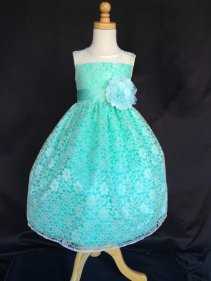 Aqua lace flower girl dress - www.etsy.com/shop/LittleGirlsWardrobe