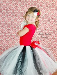 Black, white and red flower girl tutu - www.etsy.com/shop/sweethearttutus
