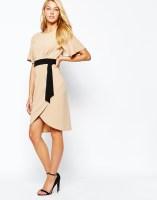 Closet Kimono Sleeve Midi Dress With Contrast Belt, from asos.com