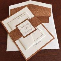 Copper wedding invitation - www.etsy.com/shop/TinasPaperHeartShop