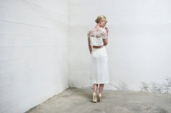 Two-piece reception dress/short wedding dress - www.etsy.com/shop/AnyaDionne