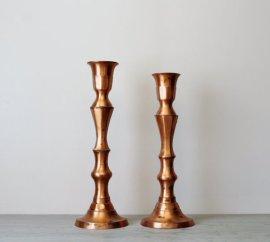 Vintage copper candlesticks - www.etsy.com/shop/Suite22