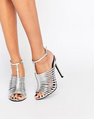 ASOS HUMID Caged Heeled Sandals, from asos.com