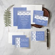 Cornflower blue wedding invitations - www.etsy.com/shop/invitationsnob