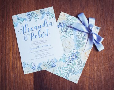 Cornflower blue wedding invitation - www.etsy.com/shop/gorgeousinvites