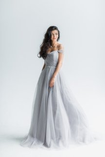 light grey wedding dress - www.etsy.com/shop/boudoirwedding
