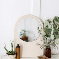 DIY Plywood Arch Mirror