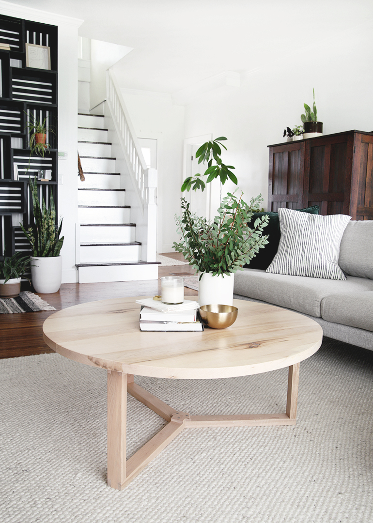diy modern round coffee table
