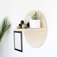 DIY Circle Shelf