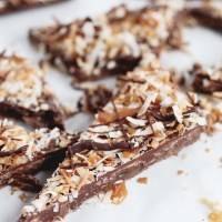 Salted Caramel + Toasted Coconut Chocolate Bark