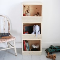 DIY Wooden Toy Bins