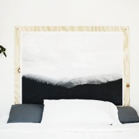 DIY Plywood Print Headboard