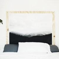 DIY Plywood Print Headboard