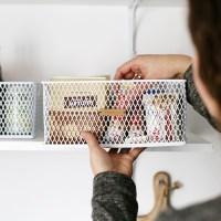 Pantry Organization - DIY Leather Labels